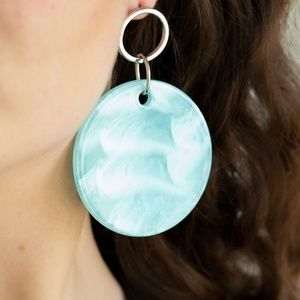 Beach Bliss Irredescent Blue Acrylic Post Earrings